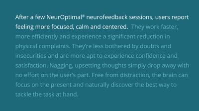 Why Brain Training with NeurOptimal?