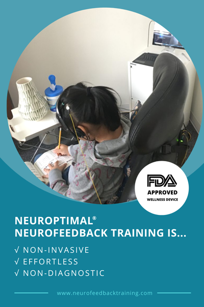 child during a neuroptimal neurofeedback session in nyc